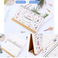 2018- 2019 Month To View Stand Alone Desk Top Calendar table ...