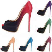 Women Pumps Platform Peep Toe Sexy Extremely High Heels Shoe...