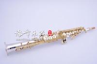 Yüksek Kaliteli Pirinç Müzik Aletleri Kopya Japonya YANAGISAWA S9930 B (B) Soprano Saksafon Gümüş Kaplama Sax Durumda, ağızlık