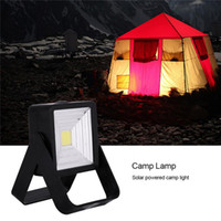 CLAITE Solar Camping Lamp USB COB LED Tent Lamp Work Light O...