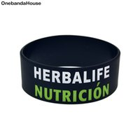 1PC One Inch Wide 24 Hour Nutricion Silicone Wristband A Gre...