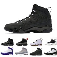 Wholesale Bred LA 9 9s mens basketball shoes black white Mop...