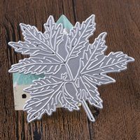 tencils for scrapbooking 8. 2x8 cm Metal Maple Leaf Pattern C...