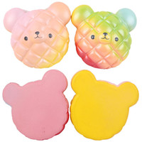 2018 New Rainbow Bear Pineapple Cake Bread Squishy Kawaii Cu...