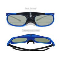 도매 액티브 셔터 DLP 링크 3D 안경 충전식 안경 96-144 Hz 모든 DLP 링크 3D 준비 프로젝터 10pcs / lot
