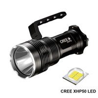 2500 lumen XHP50 LED torcia tattica USB ricaricabile potente torcia luce searchlight Flash Light lampada da 4 * 18650 batteria