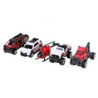 5 قطعة / المجموعة 1:64 مقياس سبائك الإسعاف سيارة نموذج أطفال الأطفال سيارة شاحنة هليكوبتر لعبة هدية