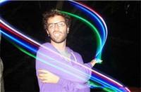 Lampada da dito a LED Luci da anello a dito Bagliore Laser Finger Party Flash Giocattoli per bambini 4 colori Regalo di Natale 100 pezzi a366