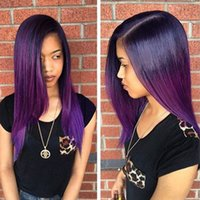 Purple Ombre Peruvian Hair 10A Peruvian Virgin Hair Straight...