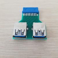 Mini carte mère 20Pin Header to 2 Port USB 3.0 Hub Un adaptateur de connecteur femelle à femelle pour PCB Board USB Extender