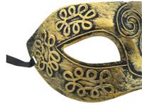 (500 peças / lote) new retro romano cavaleiro romano máscara homens e máscaras máscaras de máscaras das mulheres do partido favores dress up
