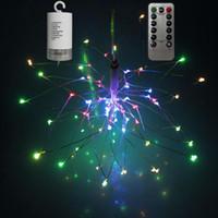 Umlight1688 СДЕЛАЙ САМ фейерверк из светодиодов Фея свет шнура на батарейках складной пульт дистанционного управления герлянда гирлянда на открытый рождественские украшения