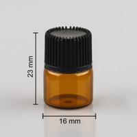Bouteille vide d'huile essentielle en verre ambré de 1 ml (1/4 dram) Bouteille en verre ambrée de 1 ml