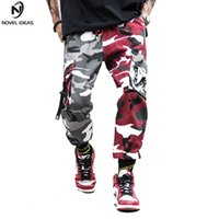 Two- Tone Camouflage Pants Cargo Pants Men Skateboard Bib Ove...