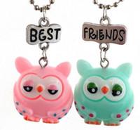 أفضل أصدقاء قلادة القلائد لطيف مجوهرات الأطفال BFF يونيكورن قلادة محاكاة الراتنج / المينا الكرتون القلائد الحيوان Series-1