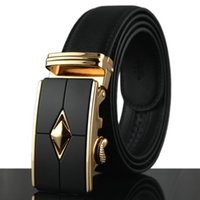 Fashion Genuine PU leather belts for men automatic buckle ca...