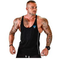 Mens Bodybuilding Tank top Gyms Fitness sleeveless shirt 201...