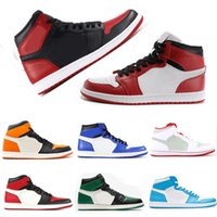 2018 New 1 High OG Bred Toe Banned Game Royal Basketball Shoes Men 1s Top 3 Shattered Backboard Shadow Sneakers High Quality