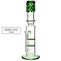13' ' Glass Bong 2x honeycomb percolator water pipe...