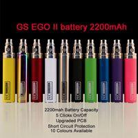 Ego II 2200mAh Batterie GS cigarette électronique batteries Vaporisateurs Ecig Batterie Ego GS 2200 Batterie Mah Fit Gs h2 h2s ce4 510 atomiseurs