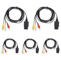 180 سم AV TV RCA كبل الفيديو AV Audio / Video TV RCA Cable Cable لنينتندو N64 SNES Super GameCube