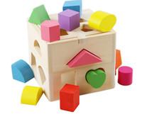 Baby Spielzeug Form Sortieren Cube Klassische Pädagogische Holzspielzeug Für Kinder Intellektuellen Spielzeug Geometrie Box Geburtstagsgeschenk