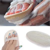Hot Criativo Branco Natural Loofah Banho Corpo Esponja Purificador de Banho Esfoliante Lavar Almofada Remover Células Da Pele Morta escova