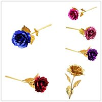 24K Gold Foil Plated Rose Romantic Valentine' s Day Gift...