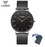 CADISEEN Luxury Brand Quartz Watch Men fashion Steel Ultra- t...