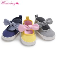 Baby Shoes Classic Canvas Bow Cotton Baby Girl Shoes First W...
