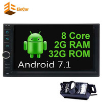 "7 ""Android 7.1 Octa Çekirdek araba video çift 2 Din Araba Radyo Stereo Bluetooth 1080 P Mirrorlink GPS Navigasyon + Ters Kamera Wifi 4G No-DVD"