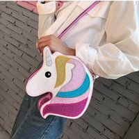 Holographic Unicorn Handbags For children Glitter Mini Purse...