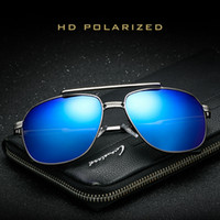 Men Polarizing Gemajing Sunglasses Metal Frame Goggles Doubl...