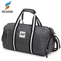 2018 A ++ Canvas Sport Bag Training Gym Bag Uomo Donna Fitness Borse Durable Multifunzione Borsa Outdoor Sport Tote per uomo