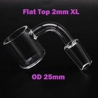 Chiodo del quarzo del quarzo del colpetto superiore di 2mm XL Top con 25mm OD Maschio Femmina 10mm 14mm 18mm 45 90 Quartz Bangers Bucket Chiodi