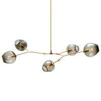 Candelabros de vidro LEVOU iluminação moderna lâmpada de novidade pendente da lâmpada natural ramo de árvore de suspensão luz de Natal do hotel sala de jantar