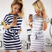 Women Sexy Clothing Summer Casual Striped Bodycon Dresses Fe...