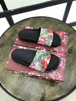 hotsale fashion unisex red flower blooms slide sandals for m...