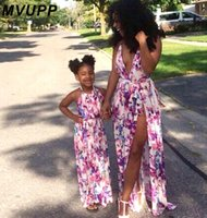Mother Daughter Dresses Family Matching Outfits Floral Print...