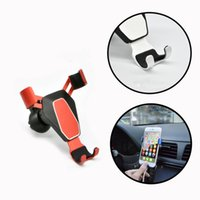 Soporte para teléfono del coche Gravity car Air vent Universal smartphone Soporte GPS Rotación Alto grado Aluminio Metal Gravity Soporte para teléfono celular