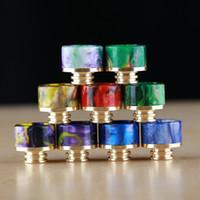 6 stili 810 bocchino filettato per punte a goccia in resina epossidica SS placcata in oro adatto per atomizzatori per bambini TFV8 TFV12 Kennedy 528 RDA 510