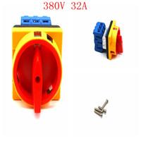 Переменного тока 380В 10А GLD11-32 / 04 вкл / выкл вкл-выкл 3P1T 6-концевой выключатель комбинированный переключатель 3-х фазный роторный переключатель кулачка