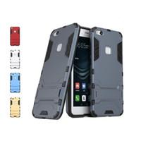 Fodral för Huawei P10 Lite Cover Slim Robot Armor Kickstand Gummi Väska till Huawei P10 Lite Case för Huawei Nova Lite Fundas