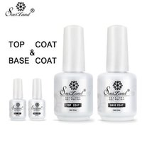 2ST Basislack Decklack Set Gel-Nagellack tränken weg von Long Lasting Gel Lack 15ml UV-LED-Nagel-Gel-Lack
