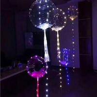 18 Zoll Leuchtende Led Ballon Runde Blase Helium Ballons Kinder Spielzeug 3 Mt LED Luftballon String Lichter Hochzeit Party Dekoration