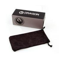 DRAGON نظارات شمسية التغليف الأصلي حزمة ورقة صناديق النظارات الشمسية مربع حالة حقيبة 3 قطعة البدلة السفينة حرة البدلة لنظارات العلامة التجارية
