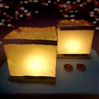 Paper Lanterns Water Floating Light Square Chinese Blessing ...
