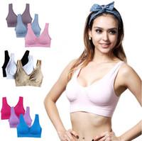 e6d1444949f4b Wholesale 34f bras for sale - 9 Colors Soft Breathable Sports Bra Women  Yoga Fitness Stretch