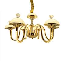 Modern elegante cor ouro 4 braços 7 braços alumínio k9 cristal lustre lustre LED LED luminária para jantar sala de estar