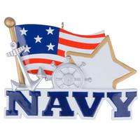 البحرية الأمريكية العسكرية شنقا شخصية رسمت باليد diy الراتنج الحرفية التذكارية لعطلة هدايا السنة الجديدة أو تزيين المنزل